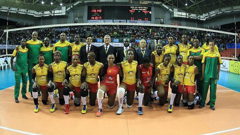 żeńska drużyna Kamerunu w siatkówce